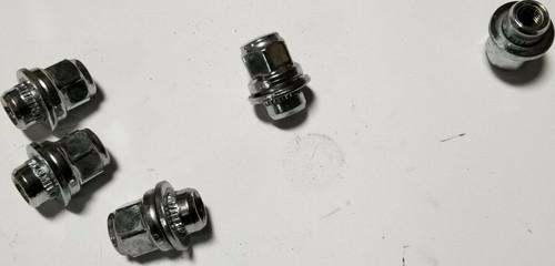 "2002-2008 JAGUAR X-TYPE VANDEN PLAS CHROME LUG NUT  ""SET OF 5"" OEM X Type"