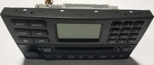 2002 JAGUAR X-TYPE OEM CD AM FM RADIO PLAYER Black 1X43-18B876-AB X Type