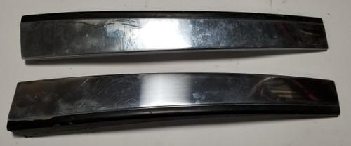 1984-1992 LINCOLN MARK VII Exterior Door Trim Chrome Plate Set LH RH