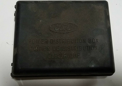 1994-1997 FORD MUSTANG ENGINE COMPARTMENT FUSE BOX LID COVER OEM F4ZB-14A003-A
