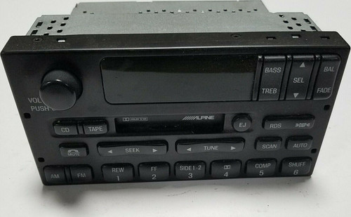 1998 1999 2000 Lincoln Town Car Radio Cassette CD Control Tested OEM XW1-F18C870-BF
