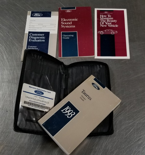 1993 Ford Taurus Owners Manual