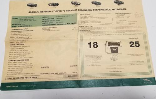 2005 Jaguar X-TYPE X Type Sport V6 3.0L Original Dealer Window Sticker