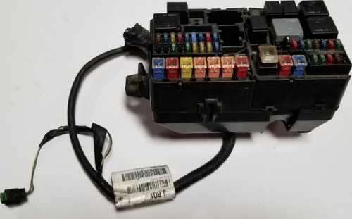 2002 2003 Jaguar X-Type X Type Engine Bay Fuse Relay Box with fuses and relays