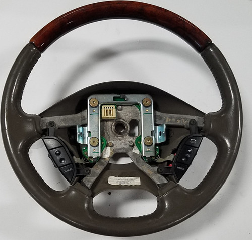2000 2001 2002 Lincoln LS Steering Wheel Gray Wood Grain with Switches XW4A-3F563-CHW