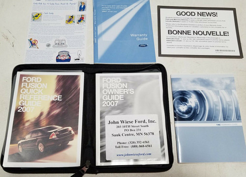 2007 FORD FUSION FACTORY OWNERS MANUAL SET OEM