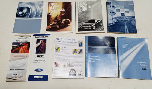 2007 FORD FUSION FACTORY OWNERS MANUAL SET OEM No Case