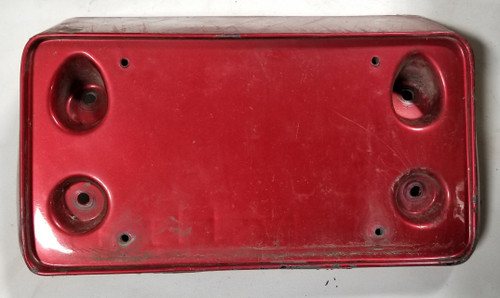 1993 1994 1995 1996 Lincoln Mark VIII Front Bumper License Plate Holder Red