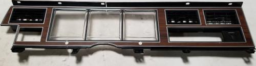 1981-1989 LINCOLN TOWN CAR OEM WOOD GRAIN DASH PANEL BEZEL AC/VENTS INSTRUMENT