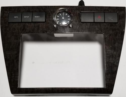 2007 Ford Fusion Radio Dash Bezel Trim Hazard Clock Wood