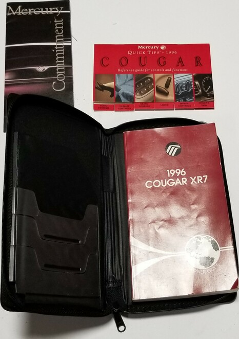 1996 Mercury Cougar  XR7 Owners Manual  Collection with Case
