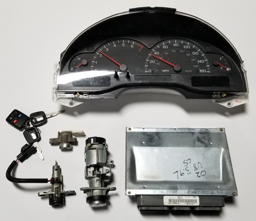 2002 LINCOLN LS Computer 3.9L V8 Key Ignition Trunk Cluster Kit 2W4A-12A650-DD PCM