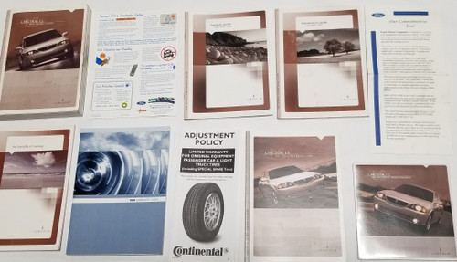 2005 Lincoln LS Owner's Guide Manual with Inserts and CD