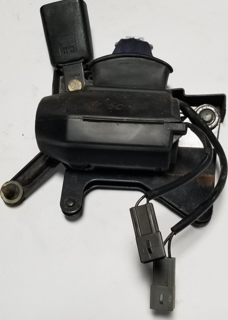 1989 to 1993 Thunderbird Cougar Seat Base Lap Shoulder Belt LH Black Grade B