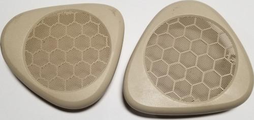 2000 2001 2002 2003 2004 2006 LINCOLN LS Center Dash Speaker Cover Set Ivory