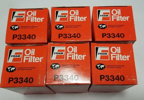6 Pack - Fram P3340 Engine Oil Filter For THERMO KING