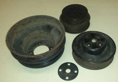 Crank Pulley, Jackshaft, and Water Pump Pulley Set - 3.8L SC - 1989 - 1995 - Thunderbird and Cougar - WWW.TBSCSHOP.COM