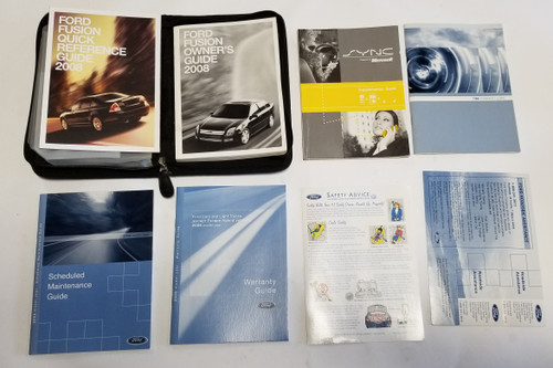 2008 FORD FUSION FACTORY OWNERS MANUAL SET OEM with case