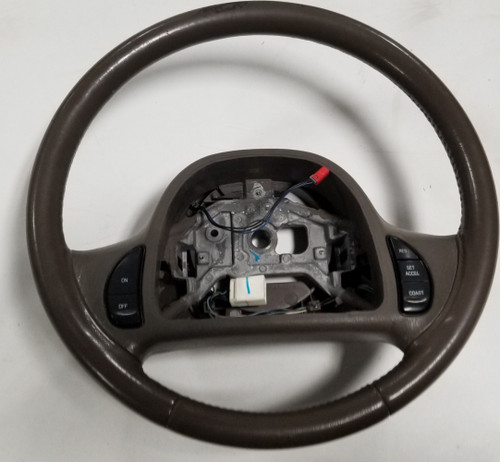 1998 99 00 01 2002 Lincoln Continental steering wheel brown