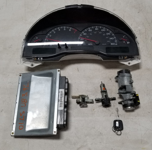 2001 LINCOLN LS Computer 3.9L V8 Key Ignition Trunk Cluster Kit 1W4A-12A650-HB PCM
