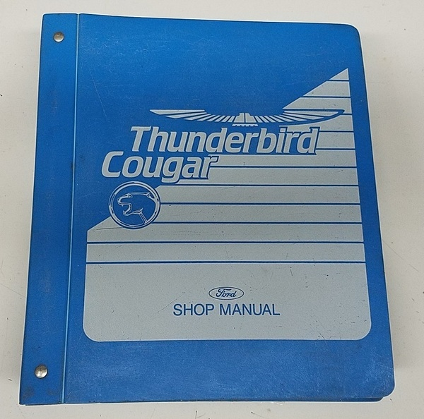 1989 Thunderbird  Cougar OEM Car Shop Manual - FPS-12196-89 - WWW.TBSCSHOP.COM