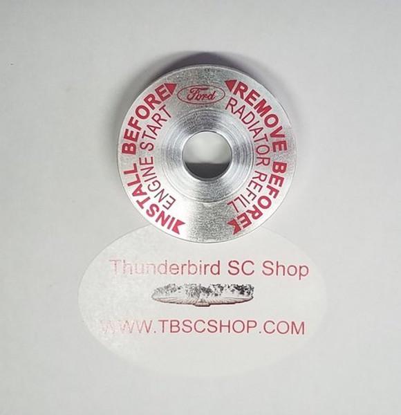 Thermostat Housing Bleed Cap - Billet Aluminum - 3.8L - 1989 - 1997 Thunderbird and Cougar - WWW.TBSCSHOP.COM
