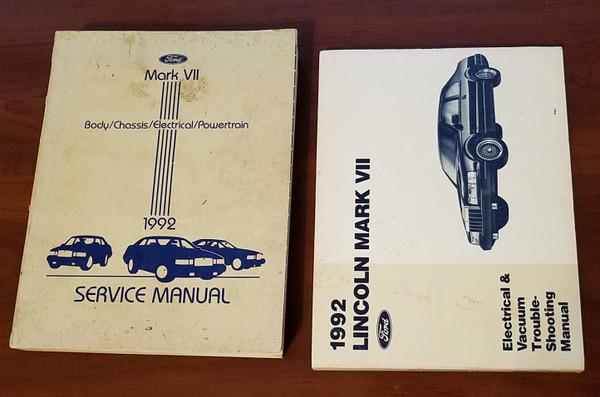 1992 Lincoln Mark VII Electrical Vacuum & Service Manual Set