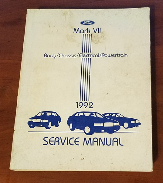 1992 Lincoln Mark VII Service Shop Manual FPS-12192-92