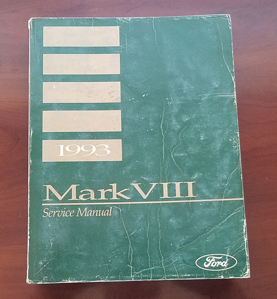 1993 Lincoln Mark VIII Service Shop Manual FPS-12192-93