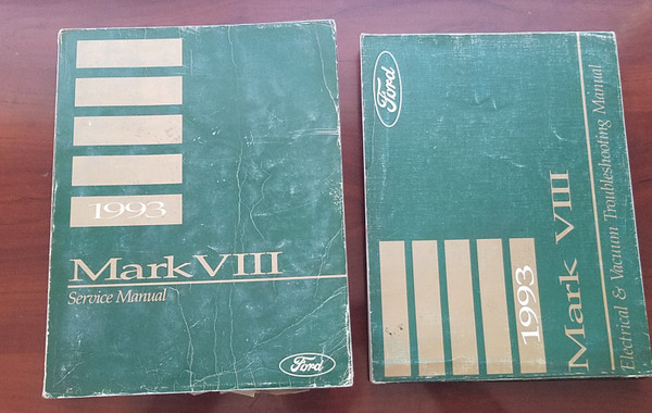 1993 Lincoln Mark VIII Electrical Vacuum & Service Manual Set FPS-12192-93