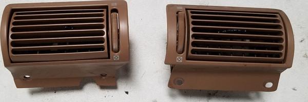 1993-1996 Lincoln Mark VIII Dash Left/Right Air Vent Set Tan Grade B