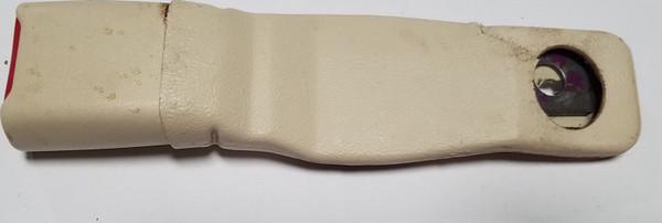1993-1998 Lincoln Mark VIII Seat Belt Clip Ivory RH Passenger Side