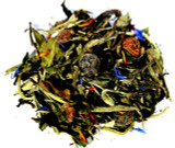 White pomegranate blueberry loose leaf tea