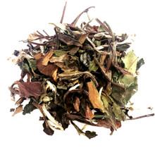 Green and White Loose Leaf Tea