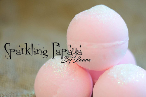 Sparkling Papaya Bath Bomb