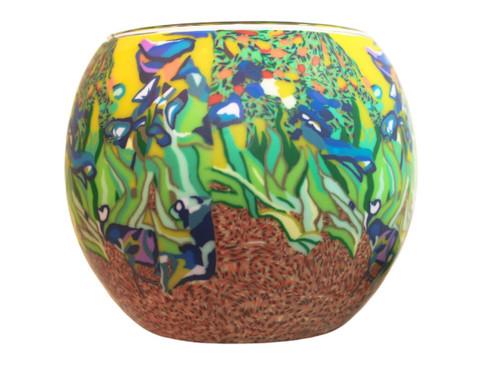 Glass Illusion Votive Van Gogh Irises #3