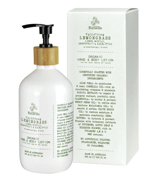 Organic Lemongrass Body Lotion 500ml