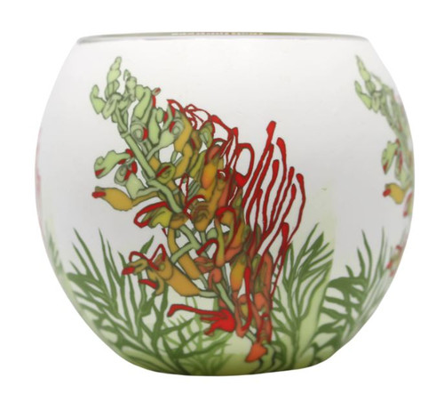 Glass Illusion Votive Australian Grevillea #28
