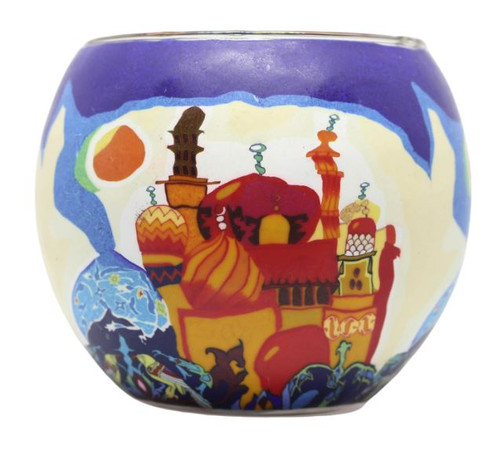 Glass Illusion Votive 'Russian Rooftops' #36