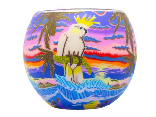 Glass Illusion Votive 'Aussie Cockatoo' #39