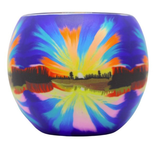 Glass Illusion Votive 'Northern LIghts' #61