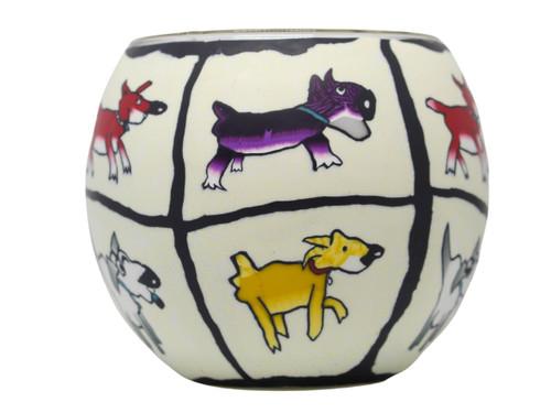 Glass Illusion Votive 'A Dogs LIfe In Colour' #40