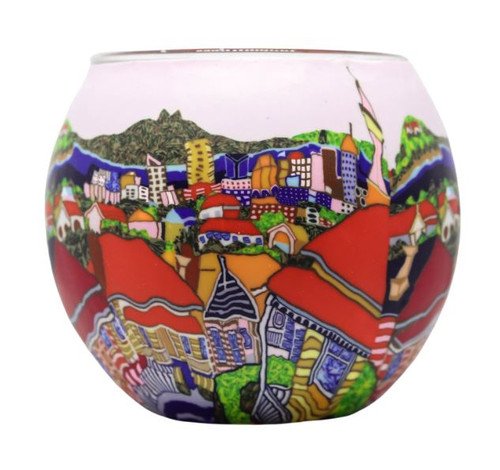 Glass Illusion Votive 'Red Roofs' #48