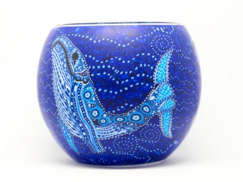 Glass Illusion Votive ' Blue Whale' #55