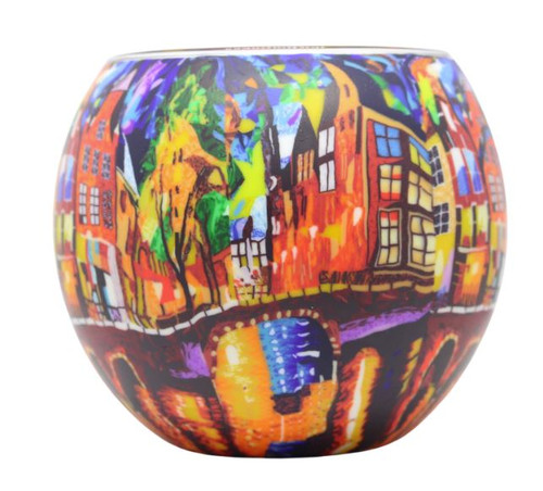 Glass Illusion Votive ' Amsterdam'  #56