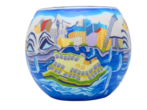 Glass Illusion Votive ' Sydney' #59