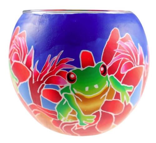 Glass Illusion Votive 'Tree Frog' #22