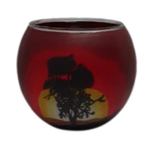 Glass Illusion Votive ' Solitude Tree' #70