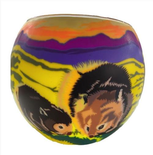 Glass Illusion Votive ' Aussie Wombat' #87