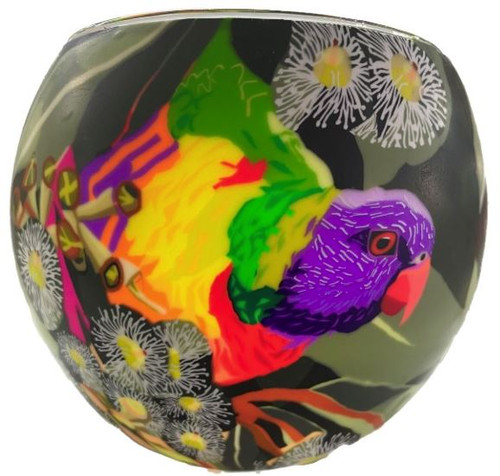 Glass Illusion Votive 'Aussie Lorikeet' #82
